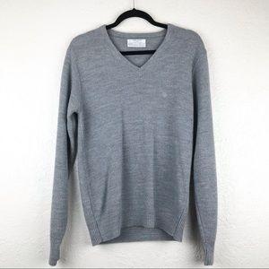 Dior Vintage V-Neck Grey Orlon Sweater Size Med